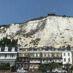 View of hotel backdrop of 'White-Cliffs'