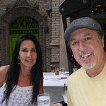 ROSARIO CASSATA AND CAROLYN DOWNTOWN AT TRATTORIA DELL'ARTE IN NEW YORK CITY