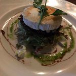 Mushroom with goats cheese