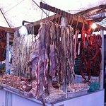 stand du boucher au marché de San joaquim
