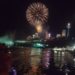 Fireworks while on the boat