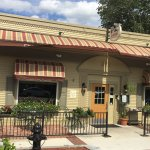 Located on Main Street, with outdoor seating