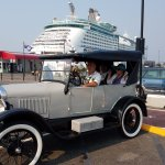 Larry's 1926 Model T. We were picked up at the dock by our cruise ship, so it was ultra convenie