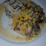 Grilled grouper and wild rice