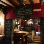 Chalk boards show daily specials