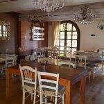 Salle du petit déjeuner. Superbe décoration.
