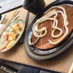 ten zaru udon : larges pattes froides à tremper dans une sauce accompagnées par des beignets de
