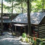 A real log cabin greats visitors