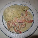Ben's Sauteed Shrimp with Gorgonzola Cream Sauce