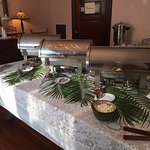 The dining room is lovely for a buffet at your special event.