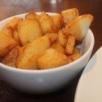 Garlic potatoes.