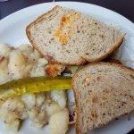 Schnitzel Rueben with german potato salad