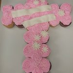 Cupcake Pull-apart for a baptism