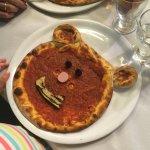 Bear-shaped pizza for children