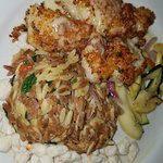 Parmesan Crusted Grouper and Lump Crab