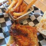 Blackened Rockfish BLT & French Fries
