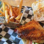 Blackened Rockfish BLT & French Fries