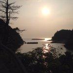 沖泊からの夕日