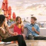 Friends enjoying High Rooftop Lounge