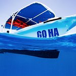 Our boat and the Caribbean waters, dive with us, Pl,aya del Carmen