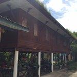 Old teakwood monks' quarters