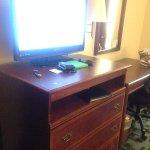 TV, dresser, desk