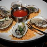 (Gluten Free) Oysters on a tomato infused salt