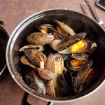 Steamed Mussels and Clams