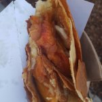 peach & banana foster Crepes a la cart