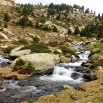 Clean rivers in the Pyrenees mountain