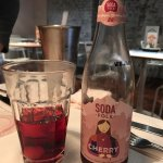Cherry craft soda - recommended as it's not at all sugary or synthetic. Just refreshing and tast