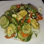 cucumber, avocado, roasted carrot