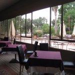 The veranda for breakfast and dinner