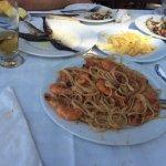 μακαροναδες με γαρίδες, γαμπατες, καραβίδες