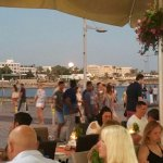 Full moon rising in Paphos in front of Bacchus Restaurant