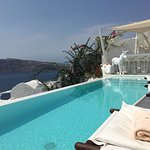 What a lovely hotel. It's one of the newest hotels in Santorini.