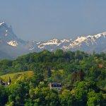 Le Pic du Midi d'Ossau depuis le boulevard des Pyrénées