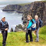 Walking on the Cliffs of Moher in Ireland