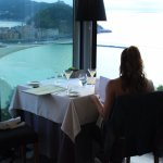 corner table with a view over San Sebastian