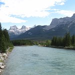 River and walk/cycle way in Canmore