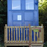 Our glamping Tardis ready to book.