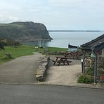 Nant Gwrtheyrn cottages are at this beautiful place near the sea which is downhill. Amazing view