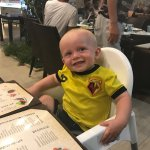 Our youngest on his first visit to Turkey Cihan the best restaurant in Side by far, visited time