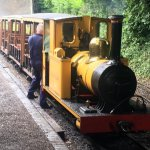 the narrow gauage railway at amberly, a great way of seeing the whole site
