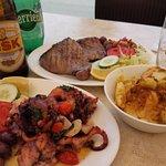 Excellent octopus and tuna steak