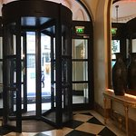 photo of revolving door at entrance.