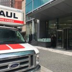 our Uhaul in from of the Fairmont Pittsburgh