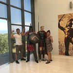The buses don't stop at the Thermopylae Center — a must see