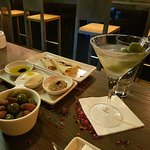Three course chefs choice... and my martini Yum!