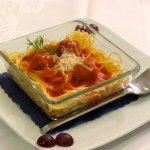 Children's Menu - Spaghetti with Meatballs in Tomato Sauce